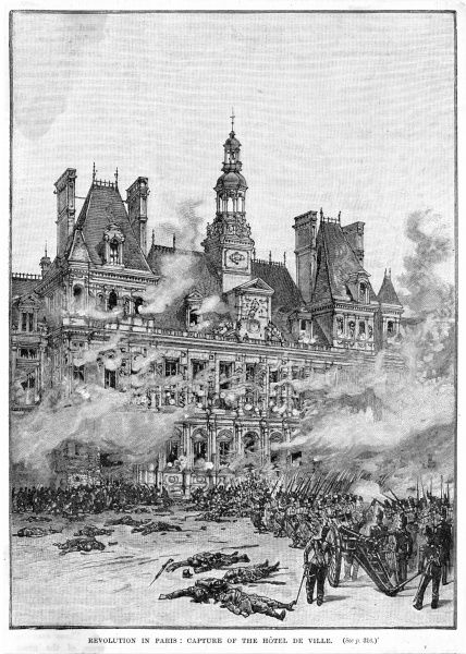 The insurgents take the Hotel de Ville
