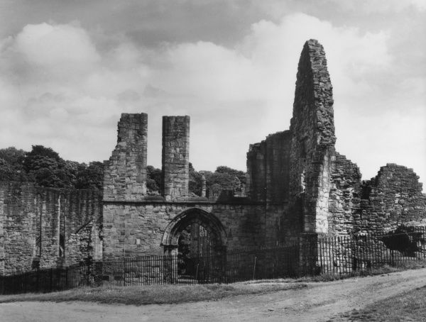 The ruins of Finchdale Priory, County Durham, England, which was founded by an adventurous sailor (later Saint), Godric, in about 1115. Date: founded 1115