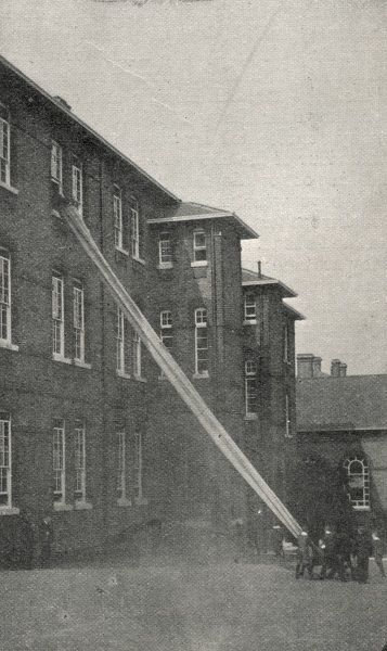 A Fire Drill taking place at the Lambeth Schools for workhouse children on Elder Road, West Norwood, South London