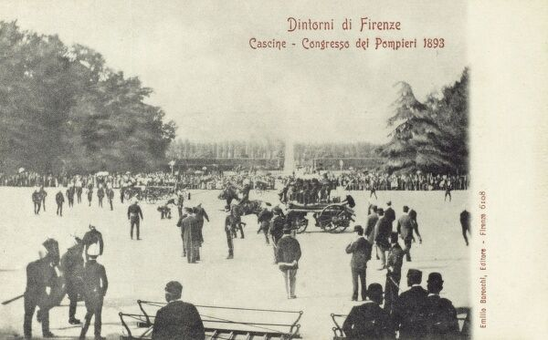 Firefighters Congress in the outskirts Florence, Italy Date: 1893