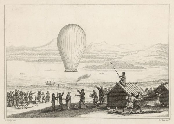 The natives of Tornea Lapmark, assembled at Enontekis, to witness the launching of the first balloon within the Arctic circle