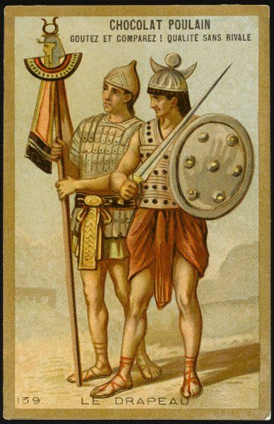 THE FIRST FLAGS standards of the Roman legions