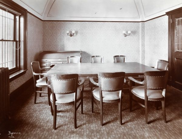 First National Bank of Stamford, Connecticut. Conference room at the First National Bank, Stamford, CT