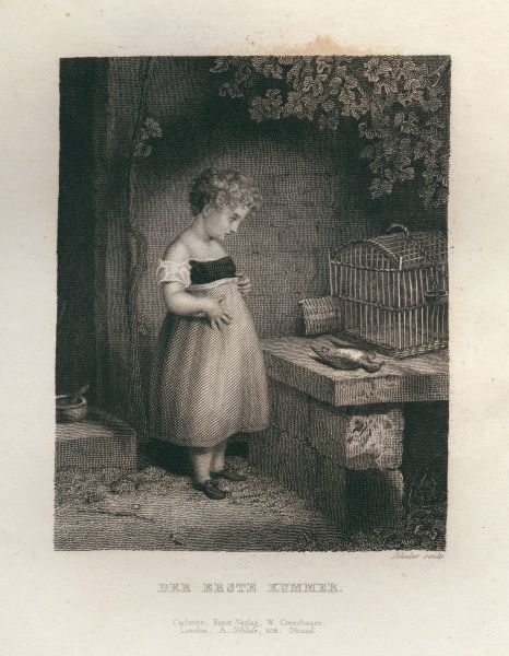 The first sorrow - A child with a dead bird 1833