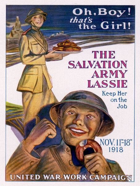 American World War One poster promoting the Salvation Army lassie