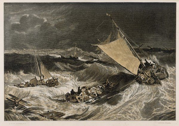 When a fishing fleet is caught in a severe storm, the vessels that survive pick up the crews of those which are destroyed