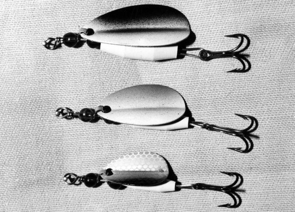 Spoon baits, fishing lures. Date: 1960s