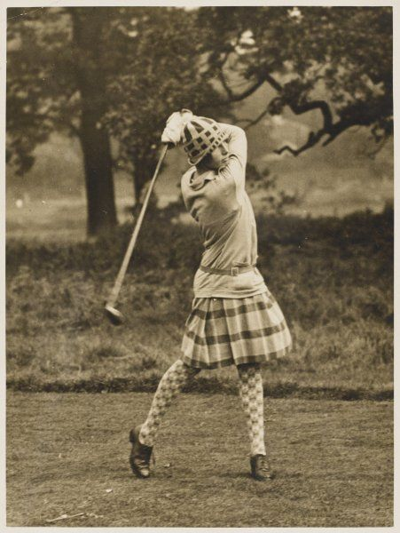 Diana Fishwick in action at Stoke Poges, where she won a championship in 1927