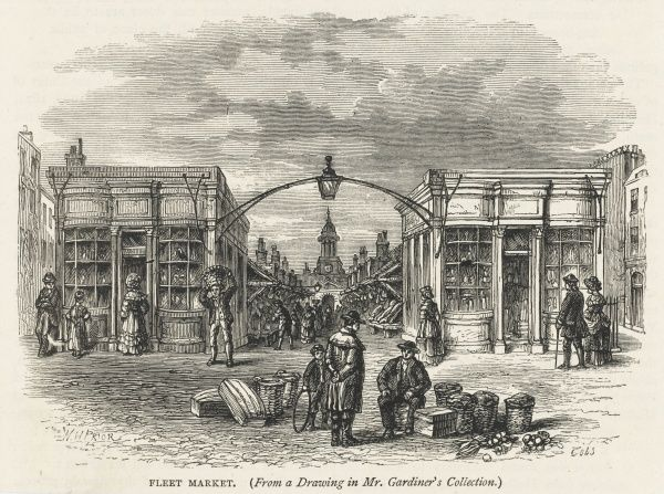 Shops and traders in the old Fleet Market
