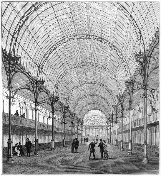 The interior of the Floral Hall, Covent Garden - though there is not a flower to be seen, you can at least admire the architecture