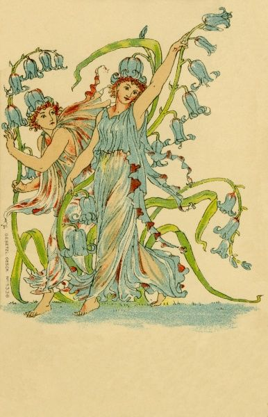 Flower Fairies from A Masque of Flowers. Artist: Walter Crane. From Flora's Feast - A Masque of Flowers Date: 1901