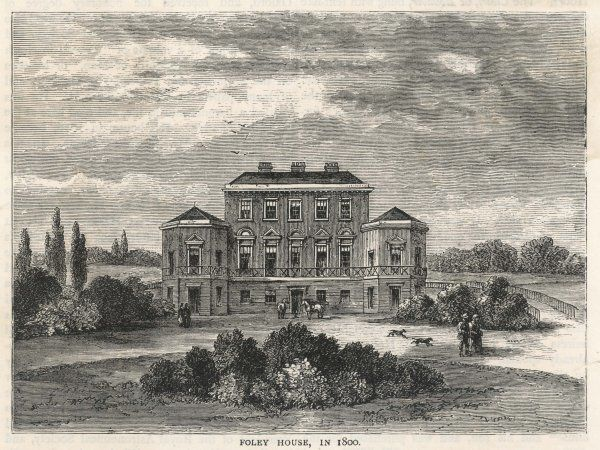 A view of Foley House, London. Built by Lord Foley in the 18th century