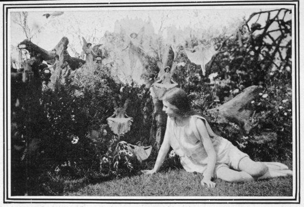 FAIRIES PHOTOGRAPHED IN A LONDON GARDEN (presumably during the summer of 1917) (No further details available)