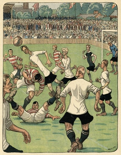 An international football match Date: 1914