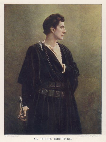 (Sir) JOHNSTON FORBES-ROBERTSON English actor-manager as Hamlet