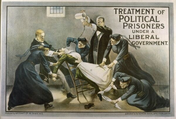 Force-feeding women in prison. 'Treatment of Political Prisoners Under a Liberal Government&#39