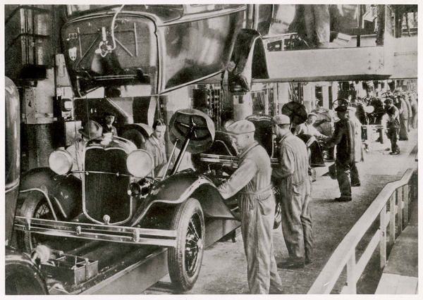 Working on the Ford assembly line