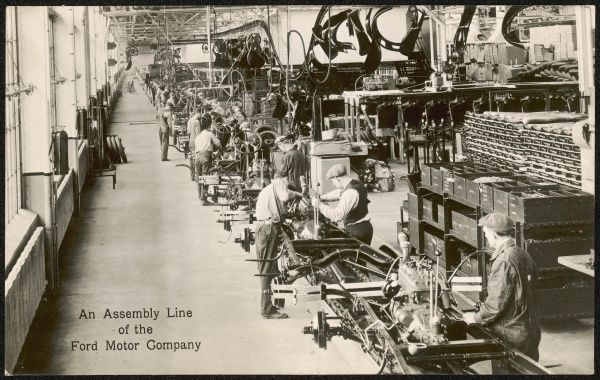 FORD MOTOR COMPANY The assembly line at the Rouge Plant, Dearborn, illinois