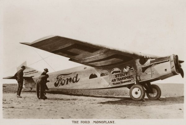 The Ford Monoplane was used for Air Mail carrying and was manufactured by a subsidiary company of the ford Motor Company