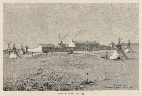 Fort Laramie which was a significant trading post in the 19th century and later a military outpost of the US army
