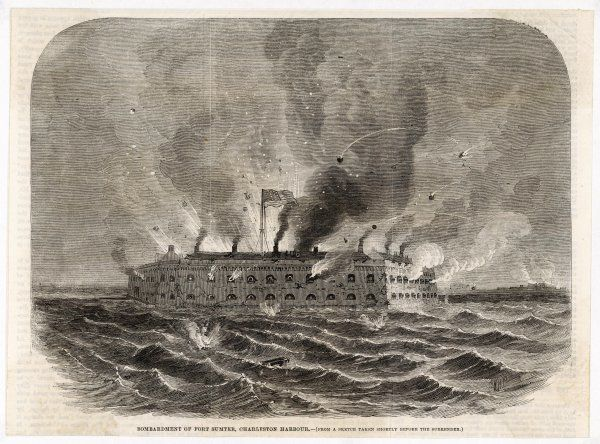 The bombardment of Fort Sumter
