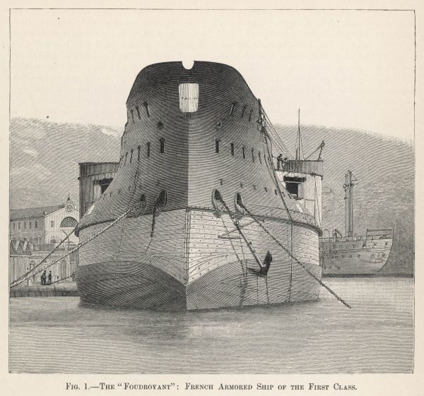 FOUDROYANT French ironclad ship used to bombard the fort of Kinburn during the Crimean War