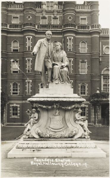 The Founders Statue - Royal Holloway College, Egham, Surrey