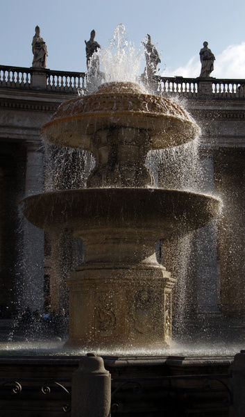 Fountain. St. Peters Square. Vatican City