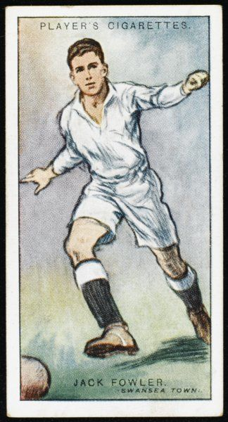 Jack Fowler, player for Swansea Town and Wales