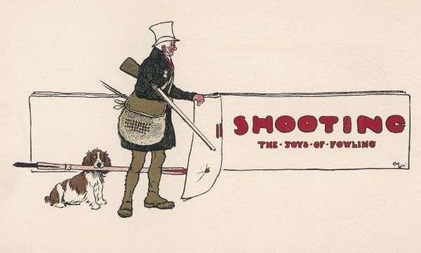 Title page of shooting section, 'The Joys of Fowling&#39