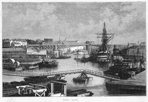 General view of the harbour, Brest