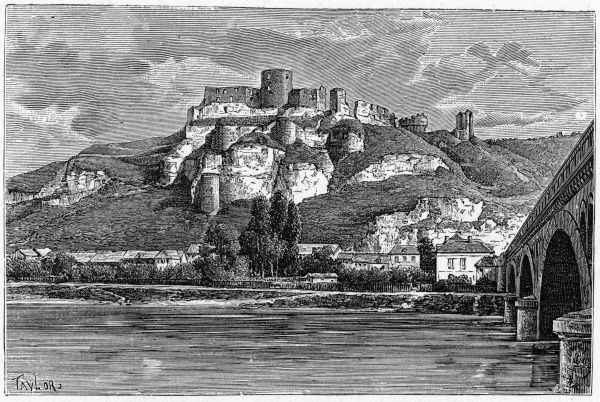 Chateau Gaillard, above Les Andelys in Normandie, was the stronghold of Richard I of England