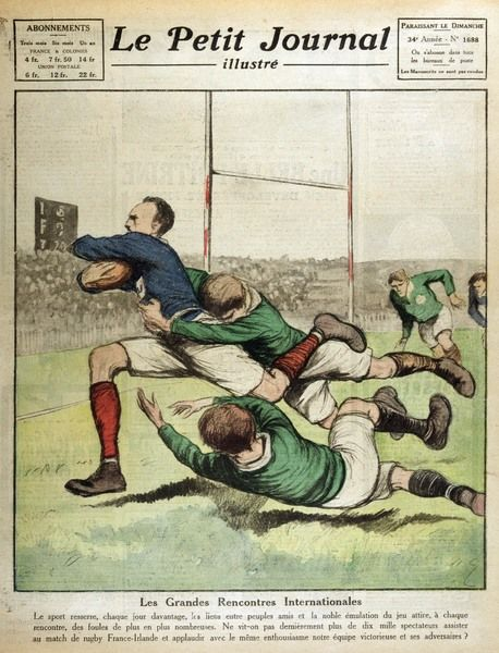 France v Ireland at Paris; the final score was a 14-8 victory for the home side