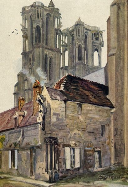 Laon: the cathedral Date: 1915