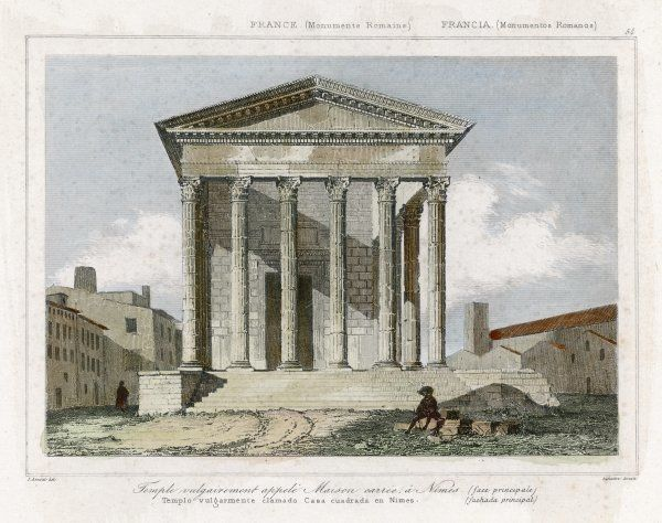 LA MAISON CARRE A Roman temple which has somehow survived to this day Date: circa 1830