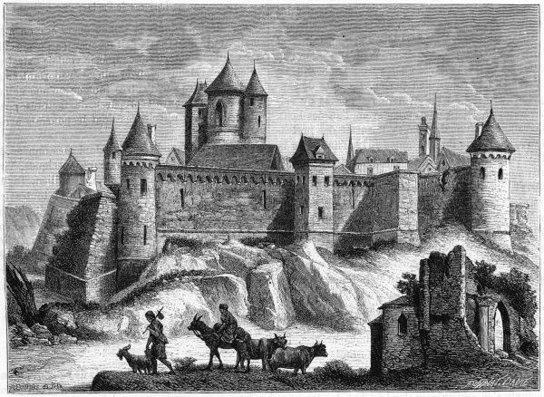 The chateau of Sancerre as it appeared in the 15th century or thereabouts
