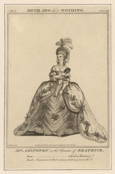 FRANCES ABINGTON as Beatrice in Shakespeare's 'Much ado about nothing&#39