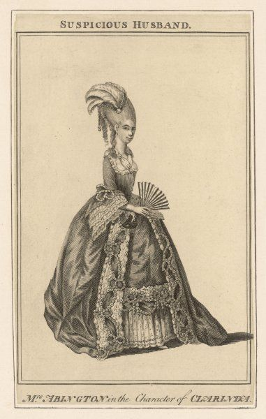 FRANCES ABINGTON as Clarinda in 'The suspicious husband' by Benjamin Hoadly