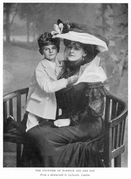 FRANCES EVELYN countess of WARWICK with her son
