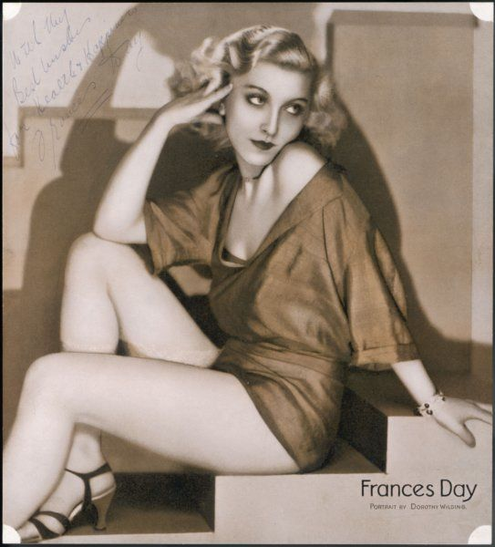 FRANCES DAY Revue star of German and Russian origin who appeared in British films