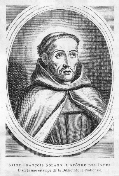 saint FRANCISCO SOLANO Spanish missionary in Peru, known as the Apostle of the Indies