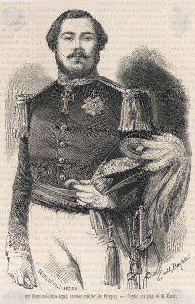 FRANCISCO SOLANO LOPEZ President of Paraguay