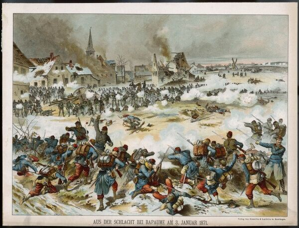 BATTLE OF BAPAUME taking place in the snow