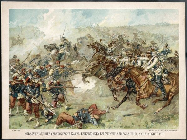 The Prussian cavalry charge at Vionville-Mars-La-Tour