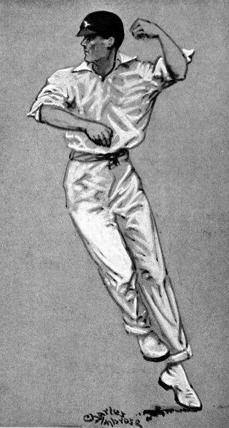 Illustration of Frank Woolley (1887-1978), the Kent and England all-round cricketer, pictured during the 1920 season. During a first-class career from 1906 to 1938 Woolley scored nearly 60,000 runs and took over 2000 wickets