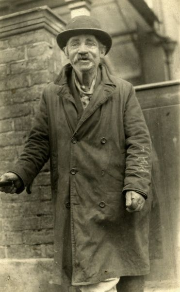Franky Shagg, a well known tramp on the Isle of Wight in the early 1900s