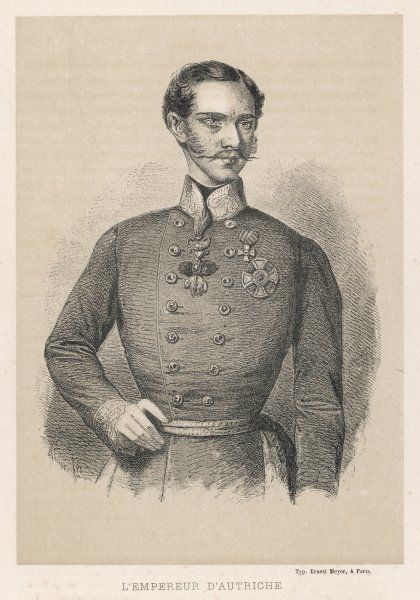 FRANZ JOSEPH Austrian emperor as a young soldier