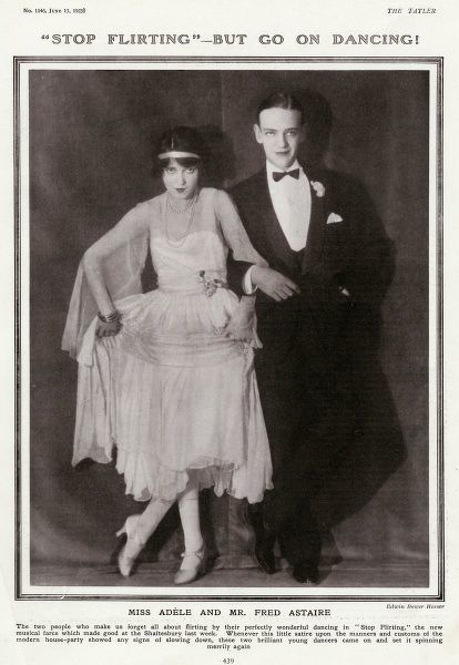 Fred Astaire, born Frederick Austerlitz (1899 - 1987), American dancer and actor pictured with his elder sister, Adele (1896 - 1981) who was his dance partner from childhood until 1932, when she retired from dance to marry the British aristocrat