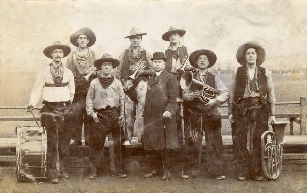 The Fred Brown cowboy band and manager of White Man Co