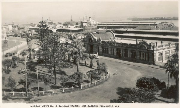Gardens and Railway Station in Freemantle, Western Australia